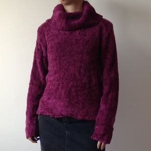 American Connection - Soft & Fuzzy Purple Sweater